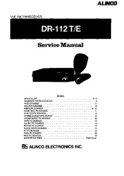 Alinco DR-112 SM VHF UHF FM Radio Owners Manual page 1