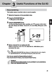Alinco DJ-X3 T E VHF UHF FM Radio Instruction Owners Manual page 31