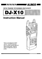 Alinco DJ-X10 VHF UHF FM Radio Instruction Owners Manual page 1