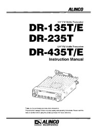 Alinco DR-135 DR-265 DR-435 VHF UHF FM Radio Owners Manual page 1