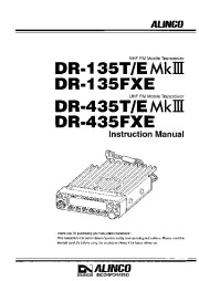 Alinco DR-135 DR-435 MK3 FXE VHF UHF FM Radio Instruction Manual page 1