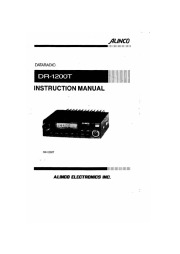 Alinco DR-1200T VHF UHF FM Radio Instruction Owners Manual page 1