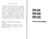 Alinco DR-130 DR-330 DR- 430 VHF UHF FM Radio Instruction Owners Manual page 2