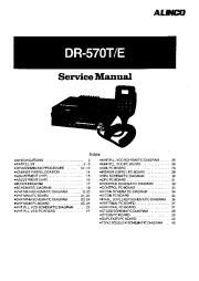 Alinco DR-570 Radio Instruction Service Manual page 1