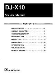 Alinco DJ-X10 FM Radio Instruction Manual page 1
