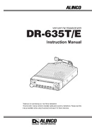 Alinco DR-635 VHF UHF FM Radio Instruction Owners Manual page 1