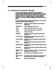 Alinco DR-135 FM Radio Instruction Owners Manual page 11