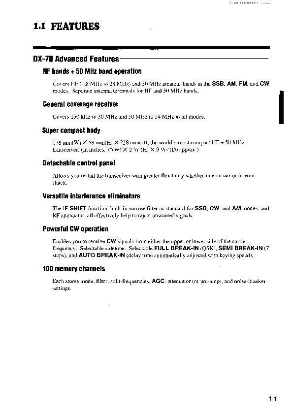 Alinco DX-70 HF 50 FM Radio Instruction Owners Manual