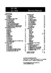 Alinco DJ-180 DJ-1400 VHF UHF FM Radio Instruction Service Manual page 1