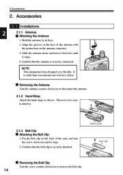 Alinco DJ-V17T E R TFH Radio Instruction Owners Manual page 14
