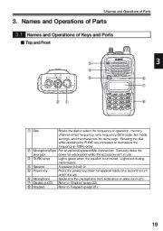 Alinco DJ-V17T E R TFH Radio Instruction Owners Manual page 19
