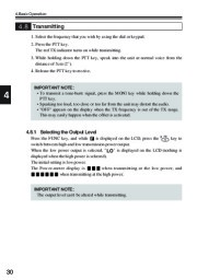 Alinco DJ-V17T E R TFH Radio Instruction Owners Manual page 30