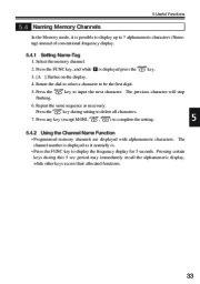 Alinco DJ-V17T E R TFH Radio Instruction Owners Manual page 33
