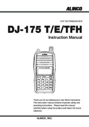 Alinco DJ-175 T R TFH Radio Instruction Owners Manual page 1