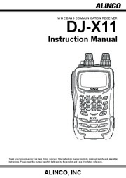 Alinco DJ-X11 FM Radio Owners Manual page 1