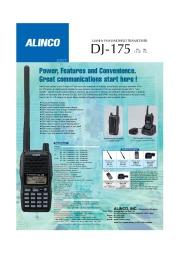 Alinco DJ-175 VHF UHF FM Radio Owners Manual page 1