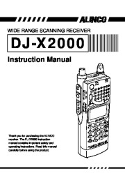 Alinco DJ-X2000 VHF UHF FM Radio Instruction Owners Manual page 2