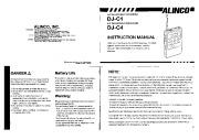Alinco DJ-C1 DJ-C4 VHF UHF FM Radio Owners Manual page 1