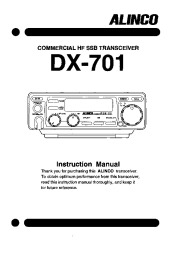 Alinco DX-701 VHF UHF FM Radio Instruction Owners Manual page 1