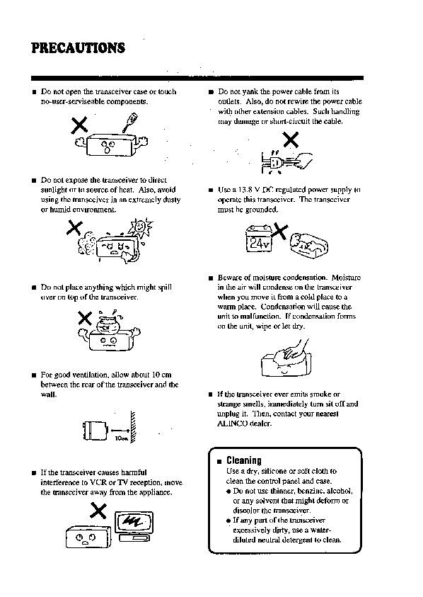 Alinco DX-701 VHF UHF FM Radio Instruction Owners Manual