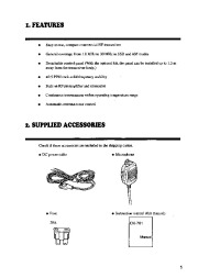 Alinco DX-701 VHF UHF FM Radio Instruction Owners Manual page 5
