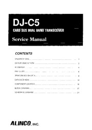 Alinco DJ-C5 SM VHF UHF FM Radio Instruction Owners Manual page 1