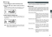 Alinco DJ-X7 TE FM Radio Instruction Owners Manual page 19
