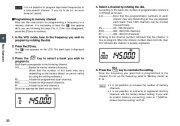 Alinco DJ-X7 TE FM Radio Instruction Owners Manual page 20